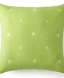 "Poppy Plaid Square Pillow 18""x18"" - Green Polka Dot"