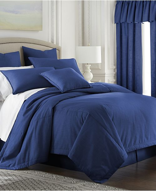 Colcha Linens Cambric Denim Comforter-Full