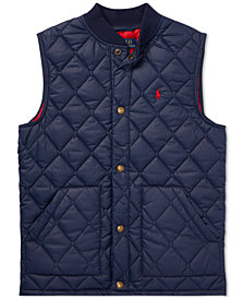 Polo Ralph Lauren Big Boys Quilted Baseball Vest