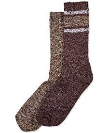 HUE® 2-Pk. Marled Stripe Boot Socks