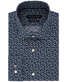 Tommy Hilfiger Men's Slim-Fit TH Flex Non-Iron Supima Stretch Floral Dress Shirt