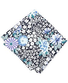 Bar III Men's White Floral Pocket Square, Created for Macy's