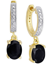 Sapphire (3 ct. t.w.) & Diamond Accent Drop Earrings in 18k Gold-Plated Sterling Silver (Also in Rhodolite Garnet, Blue Topaz & Amethyst)