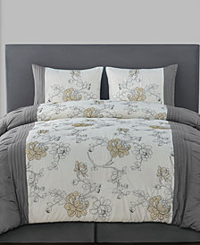 VCNY Home Aleis 4-Pc. Floral Full/Queen Comforter Set