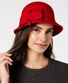 I.N.C. Bow Wool-Felt Cloche, Created for Macy's