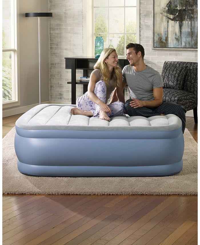 Simmons - Hi Loft Raised Air Bed Mattress With Express Pump