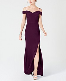 Juniors' Cold-Shoulder Gown