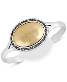 Lucky Brand Two-Tone Crystal Cuff Bracelet