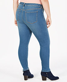 Style & Co Plus Size Seamless High-Rise Ankle Jeggings, Created for Macy's