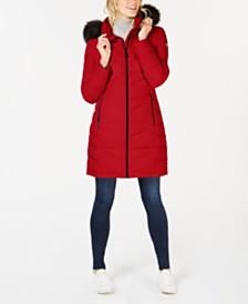 a31d71d348f03 Calvin Klein Faux-Fur-Trim Hooded Puffer Coat   Reviews - Coats ...