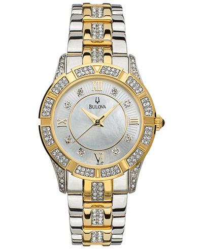 Bulova Women's Two Tone Stainless Steel Bracelet Watch 98L135