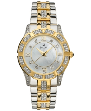 Bulova Women's Two Tone Stainless Steel Bracelet Watch 98L135