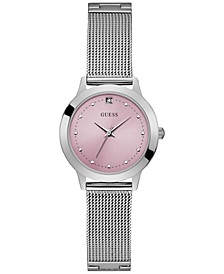 Women's Diamond-Accent Stainless Steel Mesh Bracelet Watch 30mm