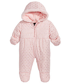 S. Rothschild Baby Girls Hooded Star-Print Footed Pram