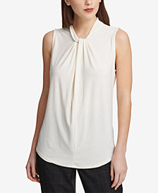 DKNY Twist-Neck Top, Created for Macy's