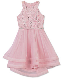 Speechless Little Girls Sequin Lace Dress