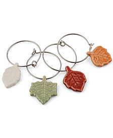 Thirstystone Leaf Wine Charms, Set of 4