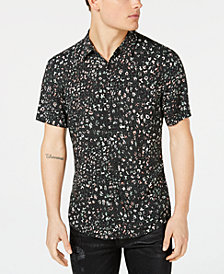 GUESS Men's Rock Leopard Shirt