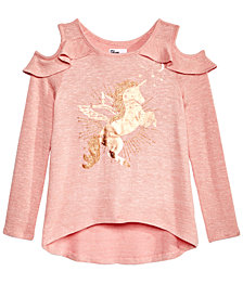 Epic Threads Big Girls Cold Shoulder Sweater-Knit Top, Created for Macy's