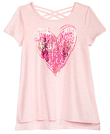 Epic Threads Big Girls Crisscross-Strap T-Shirt, Created for Macy's