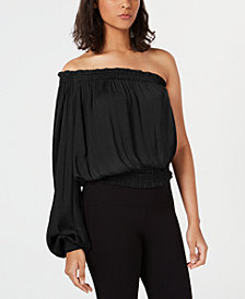 Bar III One-Shoulder Top, Created for Macy's