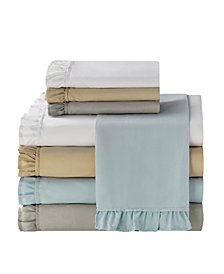 Ruffle 4 Pc Queen Microfiber Sheet Set