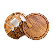 Picnic Time Acacia Brie Cheese Cutting Board & Tools Set
