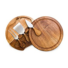 Toscana™ by Picnic Time Acacia Brie Cheese Cutting Board & Tools Set