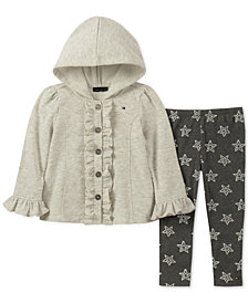 Tommy Hilfiger Little Girls 2-Pc. Hooded Fleece Jacket & Leggings Set