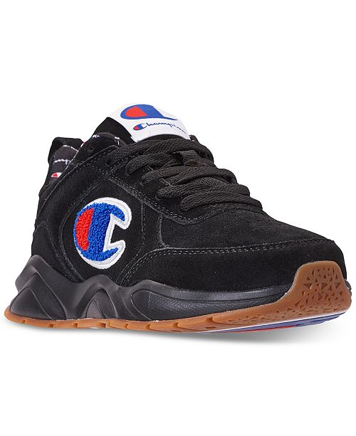 7a0fcef400d51 ... Champion Boys  93Eighteen Suede Chenille Athletic Training Sneakers  from Finish Line ...