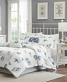 Beach House 4-Pc. Queen Reversible Comforter Set