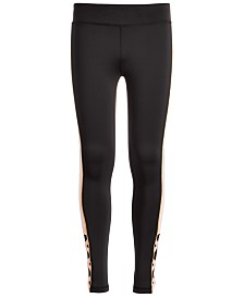 Ideology Big Girls Plus-Size Colorblocked Caged Leggings, Created for Macy's