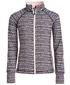 Ideology Big Girls Static-Print Zip-Up Jacket, Created for Macy's