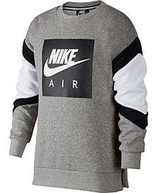 Nike Big Boys Air-Print Colorblocked Sweatshirt