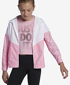 Nike Big Girls Sportswear Windrunner Hooded Jacket