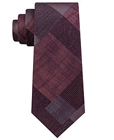 Calvin Klein Men's Seasonal Color Block Slim Silk Tie