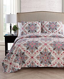 Wyndham 3-Pc. King Medallion Quilt Set