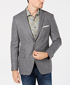 Tallia Orange Men's Big & Tall Slim-Fit Gray Birdseye Wool Sport Coat