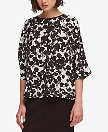 DKNY Printed Seam-Detail Top, Created for Macy's