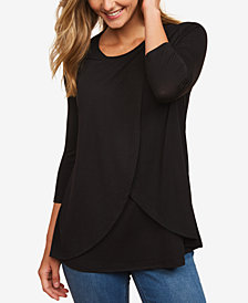 Motherhood Maternity Nursing Tiered Top
