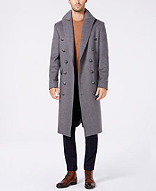 Tallia Men's Slim-Fit Solid Military Overcoat