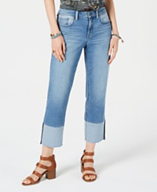 Style & Co Cuffed Cropped Jeans
