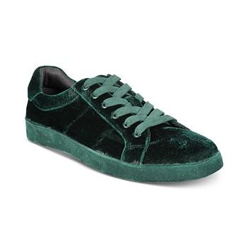 INC International Concepts I.N.C. Men's Brogan Velvet Lace-Up Sneakers