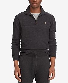 Men's Estate-Rib Cotton Quarter-Zip Pullover