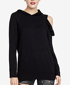 RACHEL Rachel Roy Cold-Shoulder Hoodie, Created for Macy's