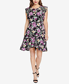 RACHEL Rachel Roy Lora Floral-Print Dress, Created for Macy's