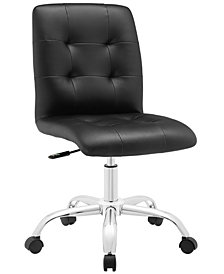 Modway Prim Armless Mid Back Office Chair
