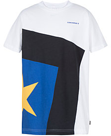 Converse Big Boys Spliced Star Cotton T-Shirt