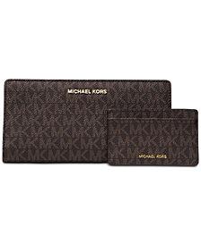 MICHAEL Michael Kors Signature 2-in-1 Card Case Carryall