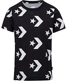 Converse Big Boys Chevron Star Graphic Cotton T-Shirt